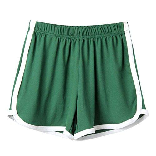 per alta corti vita eleganti sportivi elastic Pantaloncini Donna donna Verde Pantaloncini BYSTE breve donna estivo BYSTE pigiama da Ultra Pantaloncini spiaggia BTUSqOBw