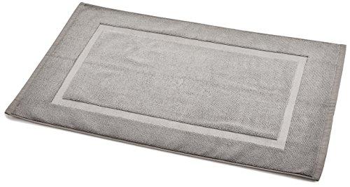 Amazon Com Amazonbasics Banded Towel Like Bath Mat Grey