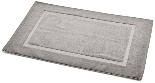 AmazonBasics Banded Bathroom Bath Rug Mat - 20 x 31 Inch, Grey