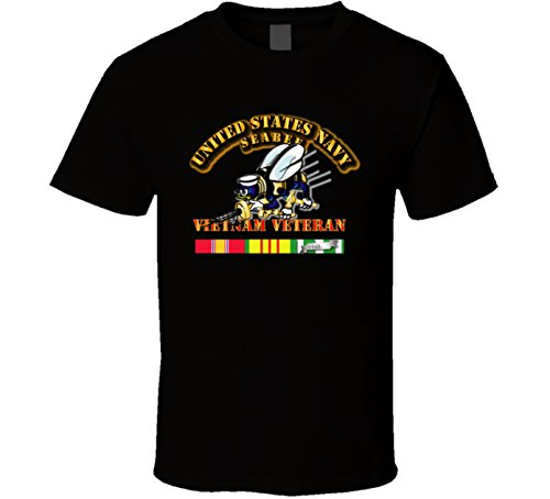 Navy Vietnam Seabees (X-LARGE - Navy - Seabee - Vietnam Veteran Military Insignia Shirt)