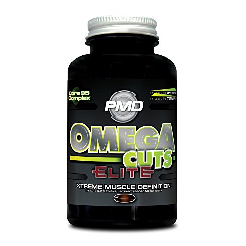 PMD Sports Omega Cuts Elite Zero Stimulant, Maximum Strength MCT, CLA and Omega Fatty Acid Complex Formula for Muscle Definition and Maintenance – 90 Softgels