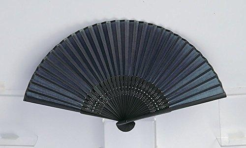 Japanese Folding Fan with Traditional Color (Aitetsu or Navy Blue) (Sensu Japanese Fan)