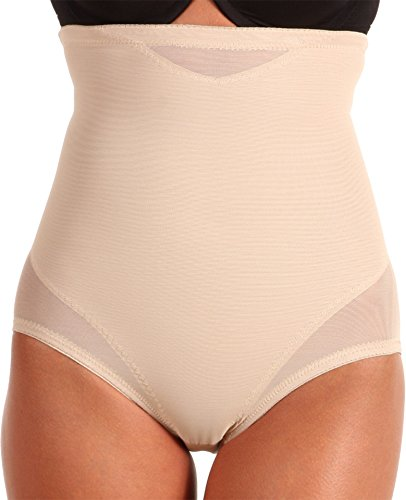 (Miraclesuit Shapewear Women's Extra Firm Sexy Sheer Shaping Hi-Waist Brief, Nude, XL)