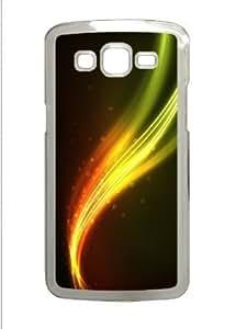 Samsung Galaxy Grand 2 7106 Case,Samsung Galaxy Grand 2 7106 Cases - Orange Waves and circles abstract PC Custom...