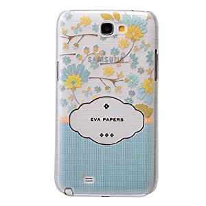 FJM Fresh Flowers Pattern PC Brushed Hard Case for Samsung Galaxy Note 2 N7100