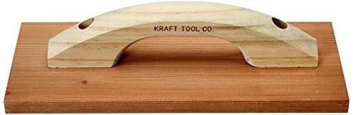 Kraft Tool CF251 Clear Heart Redwood Hand Float, 12 x - Redwood Float