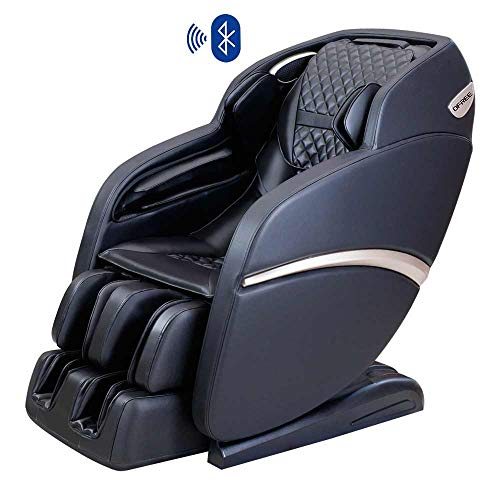 OFREE Massage Chair Luxury Space Capsule Full Body 3D Zero Gravity Massage Chair, Neck Shoulder Arm Back Hip Leg Foot Massage Chair with Bluetooth Speaker S6 Black