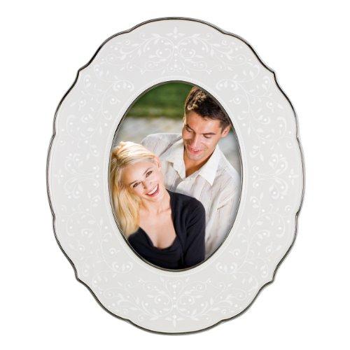 Lenox Opal Innocence Oval Luxury Frame, 5 by 7-Inch (Opal Frame Wedding)