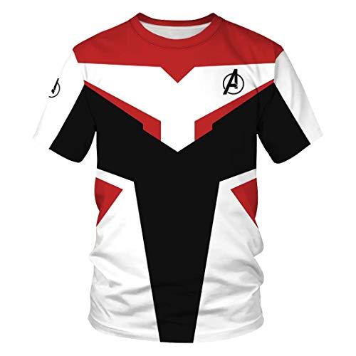 Tsyllyp Women Men Superhero T-Shirt A Logo Endgame Quantum Realm Tops Pullover (Best Photography Logos 2019)