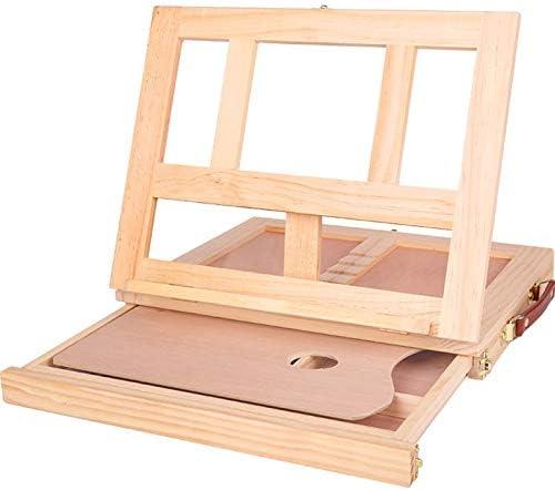 Mesa de escritorio de madera plegable Caballete con caja de madera ...