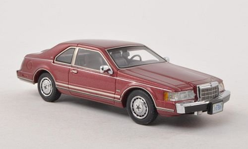 Lincoln Continental Mark VII LSC, metallic-dark red, 1984, Model Car, Ready-made, Neo 1:43