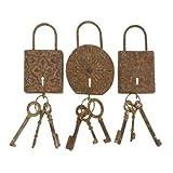 Vintage Locks And Keys Metal Wall Art Decor Sculpture, Baby & Kids Zone