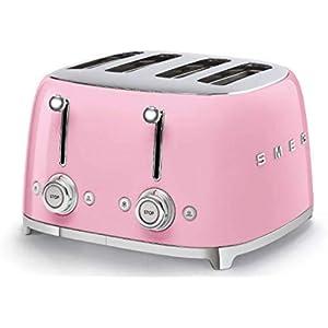 Smeg 4 Slot Toaster Pink TSF03 PKUS