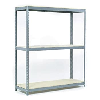 """Wide Span Rack With 3 Shelves Wood Deck, 900 Lb Capacity Per Level, 72""""W x 30""""D x 60""""H"""