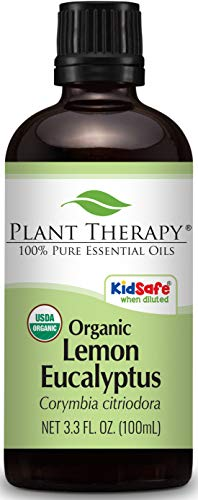 - Plant Therapy Lemon Eucalyptus Organic Essential Oil   100% Pure, USDA Certified Organic, Undiluted, Natural Aromatherapy, Therapeutic Grade   100 Milliliter (3.3 Ounce)