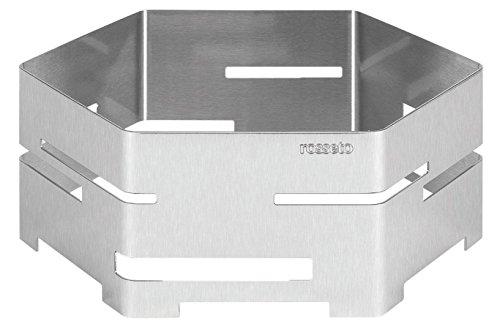 Rosseto SM117 16-Inch Brushed Stainless Steel Hexagon Buffet Riser, Medium by Rosseto