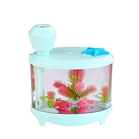 Mini Humidificador _ mini humidificador usb inicio Nebulizador fresca y creativa ver la pecera, rosa verde: Amazon.es: Hogar