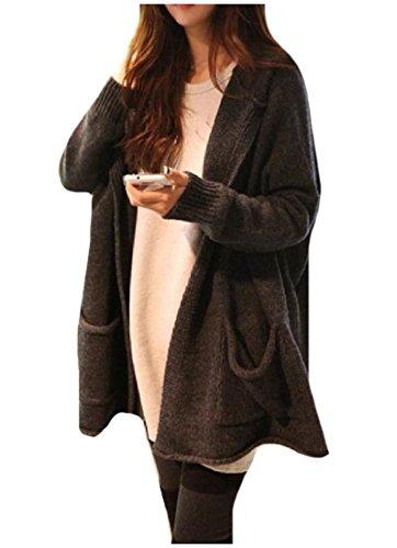 Long Black Sweater Coat - 7