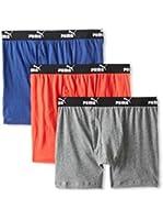 PUMA Men's Boxer Briefs - 3 Pack, multi color, L