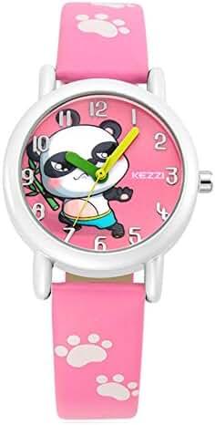 Cute Cartoon Panda Leather Strap Quartz Children Girl Wrist Watch,Pink