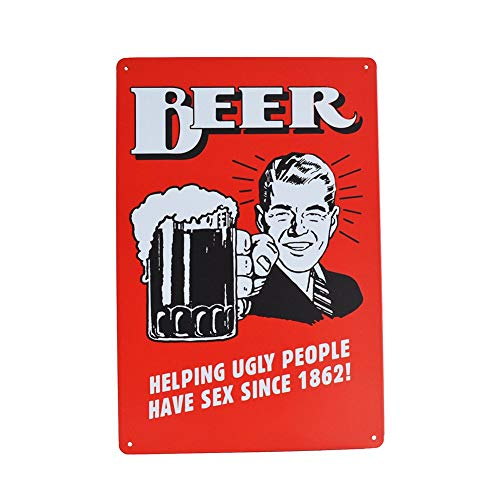 Pei S Funny Novelty Quality Tin Metal Sign Beer/Alcohol/Drinks Motif for Bar Home Kitchen Diner Man Cave 8 X12 ()
