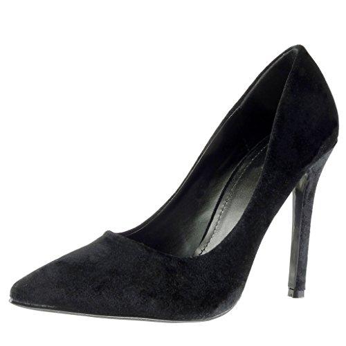 Angkorly - Scarpe da Moda scarpe decollete stiletto sexy decollete donna Tacco Stiletto tacco alto 11 CM - Nero