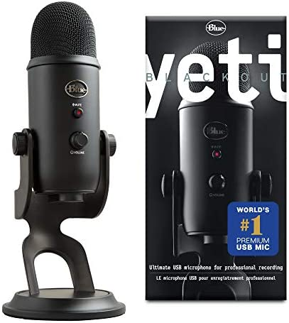 Blue Microphones Yeti Microphone USB, Blackout