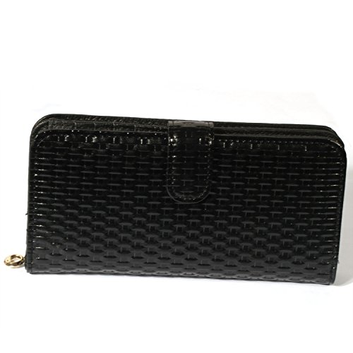 J Fold Bi Fold Wallet (H&J RFID Blocking Wallet RFID Wallets For Women Genuine Handmade Leather Purse Secure Safe (L——7.5