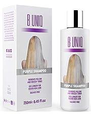 Shampoing argent à pigments violets - élimine les reflets jaunes - renforce les cheveux blonds/décolorés/méchés/gris - sans sulfate