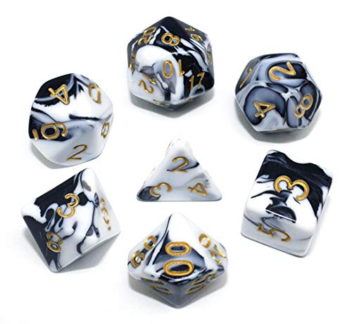 - HD DND Dice Set RPG Polyhedral Dice Fit Dungeons and Dragons(D&D) Pathfinder (Black&White)