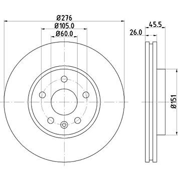 Hella Pagid 8dd 355 116 351 Brake Disc Pro Front Axle Surface