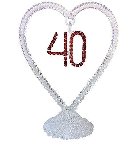 Prochaska Gallery 40th Anniversary Wedding Cake Topper Hand Blown Glass -