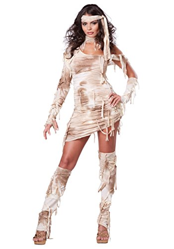 Fat Halloween Costumes 2019 (California Costumes Women's Mystical Mummy Sexy Horror Costume, Tan,)