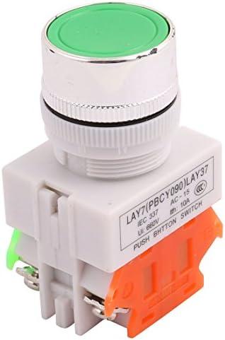 uxcell 押しボタンスイッチ プラスチック製 カラフル 10A 600V DPST 1NO 1NCスタイル