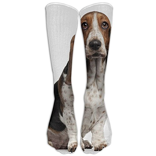 Long Dress Socks Casual Basset Hound Dog Illustration Sport Comfortable Breathable Over-the-Calf Tube