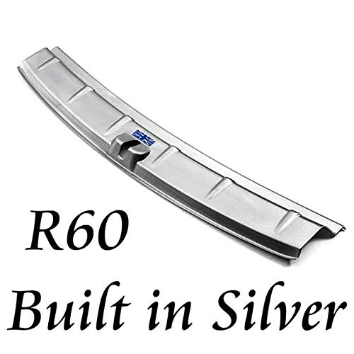 Built in silver Jack Carbon Fiber Rear Tail Lid Molding Trim Decoration Cover Trim for Cooper R60 Countryman Car Accessories  (color Name  Built in Black)