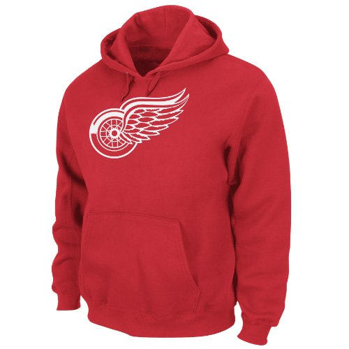 Majestic Athletic Hooded Fleece (NHL Men's Detroit Red Wings Heat Seal Long Sleeve Hooded Fleece Pullover (Athletic Red, X-Large))
