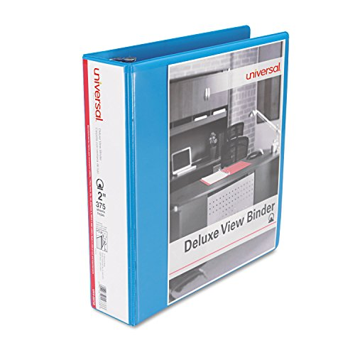 Universal 20733 Deluxe Round Ring View Binder, 2