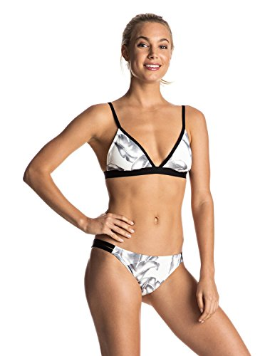 Roxy Women's La Soulvaje Printed Bikini Set, Marshmallow Havana Daze, L