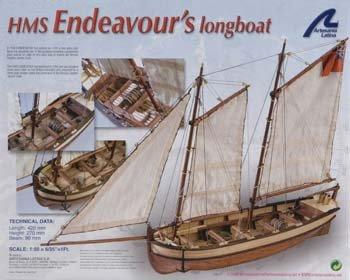 Artesania Latina 19015 1/50 Hms Endeavour'S Longboat-V Model Building Kit (Endeavour Model Ship)