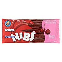 TWIZZLERS Licorice Halloween Candy, Cherry Super Nibs, Party Pack, 400 Gram