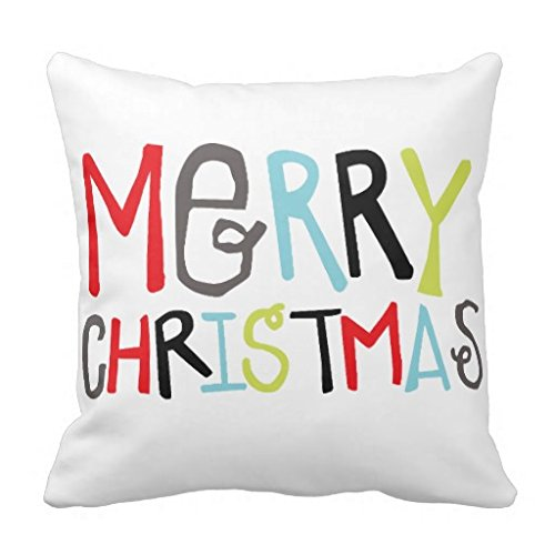 Throw Pillow Case Cushion Cover Merry Christmas Holiday