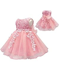 66ae4e4fd4262 Baby Girls Birthday Christening Dress Baptism Wedding Party Flower Dress