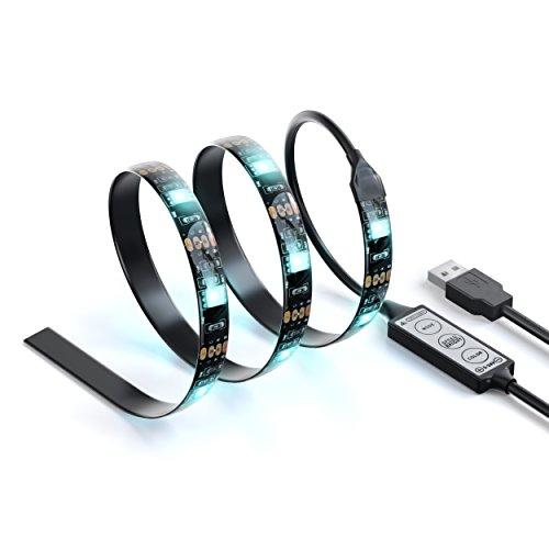 (Satechi Flexible USB Accent LED RGB Light Strip Adhesive Tape Color Changing Kit (Black(PC)))