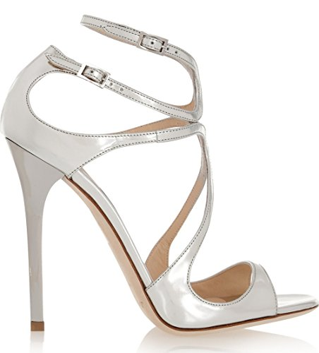 Shoemaker'S Heart Fine With High-Heeled Shoes In Rome Cross Sweet Korean Fine With High-Heeled Strappy Sandals White Forty-One by Shoemaker's heart (Image #2)