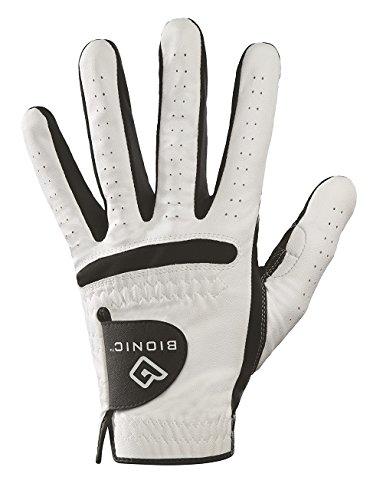 Bionic Men's RelaxGrip Cadet Left Hand Golf Glove, White/Black, Large