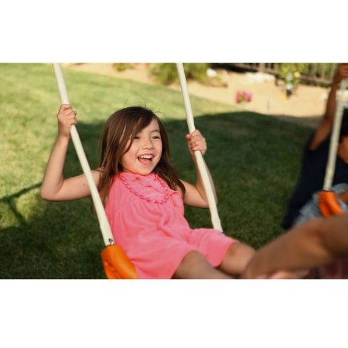 IronKids Premier 300 Metal Swing Set Trampoline with Spinner and UV Protective Sunshade