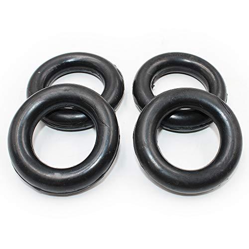 Koauto 4 pcs Exhaust Pipe O-Ring Exhaust Tips Muffler Silencer Hanger Rubber Insulator