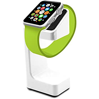 Apple Watch Stand,SAVYOU Apple Watch Charging Holder Dock Station Accessories (White)
