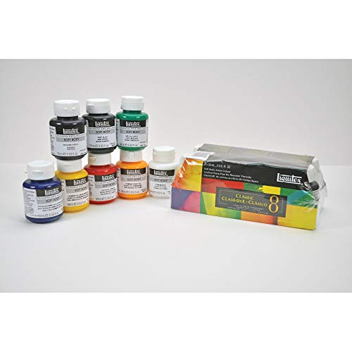 Liquitex Professional Soft Body Acrylic Paint Classic Jar 8-piece Set